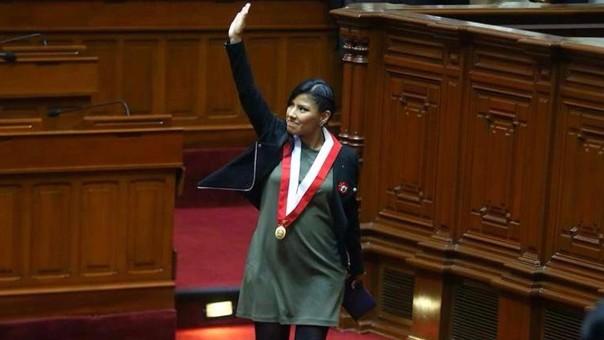 Indira Huilca juró como congresista el pasado viernes. Al hacerlo, evocó a