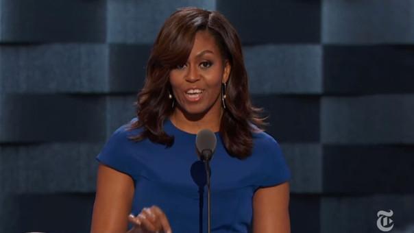 Michelle Obama y su emotivo discurso