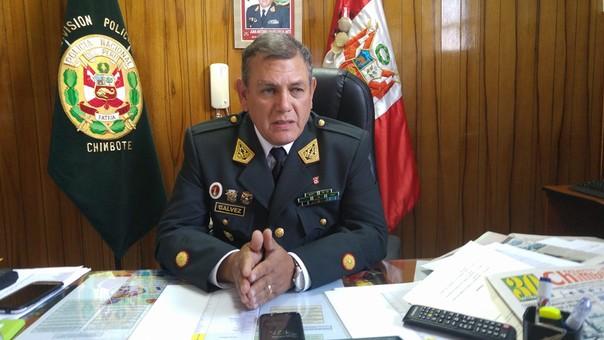 Jefe de la Región Policial Áncash, general Juan Gálvez