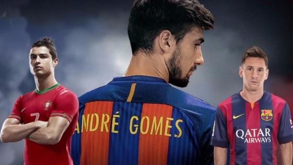 André Gomes ganó la Eurocopa con Portugal y fue presentado como nuevo fichajes del Barcelona.