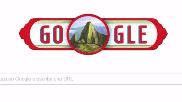 Google dedicó 'Doodle' al Perú por Fiestas Patrias