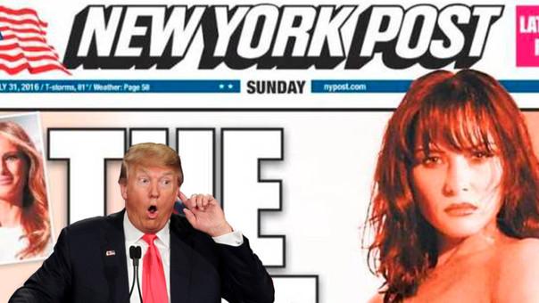 Publican fotos de la esposa de Donald Trump desnuda