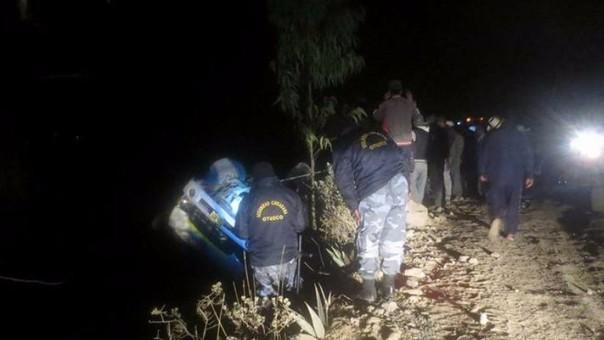 Otuzco: chofer y pasajero se salvan de morir en accidente