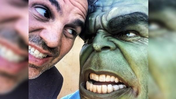 Mark Ruffalo y su alterego Hulk