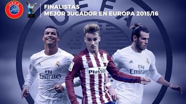 Ronaldo irá por su segundo trofeo, mientras que Bale y Griezmann buscarán ganarlo por primera vez.
