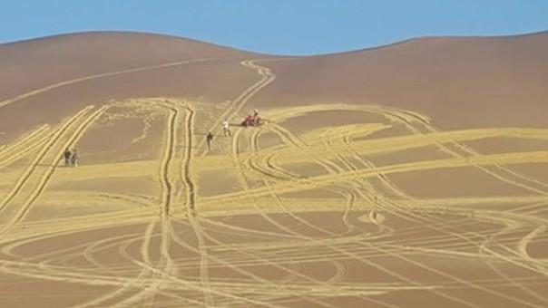 Visitan zona dañada cerca de El Candelabro.