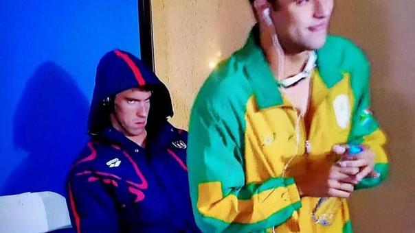 Michael Phelps y su rostro de enojo