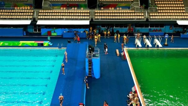 Rio 2016 Clavadistas Compitieron En Piscina De Agua Verde Rpp