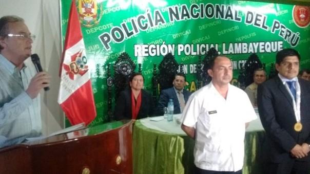Carlos Basombrio saludó trabajo policial en Lambayeque