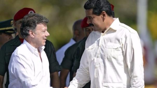 Presidente Juan Manuel Santos y Nicolás Maduro