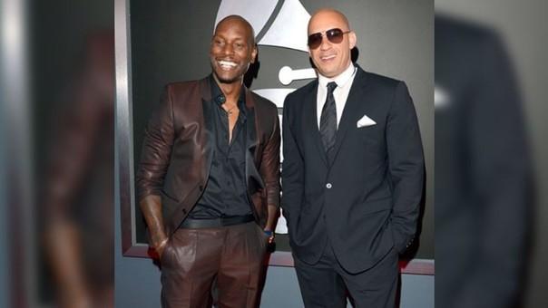Tyrese Gibson y Vin Diesel en la ceremonia de Premios Grammy