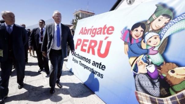El presidente llevó frazadas a Arequipa