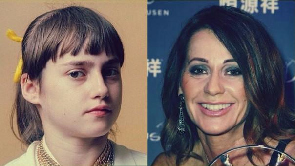 Nadia en 1976 y en la actualidad.