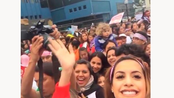 """Milett Figueroa y su participación en la Marcha """"Ni una menos"""""""