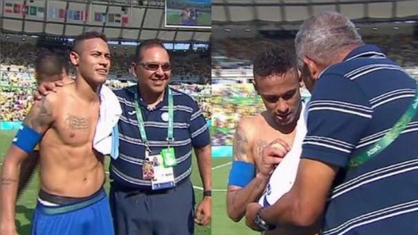 Neymar fue asediado por parte del comando técnico de Honduras.