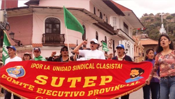 Protesta de docentes (Foto Referencial)