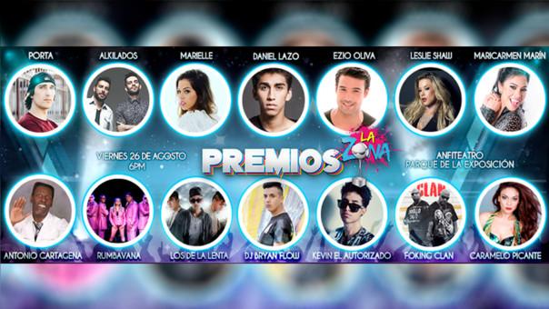 Premios La Zona: evento máximo de la música urbana se realizará este 26 de agosto