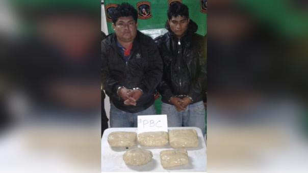 Huamachuco: intervienen a dos personas con 6.7 kilos de PBC