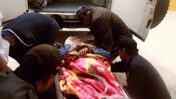 Pataz: profesores heridos en despiste y vuelco de bus