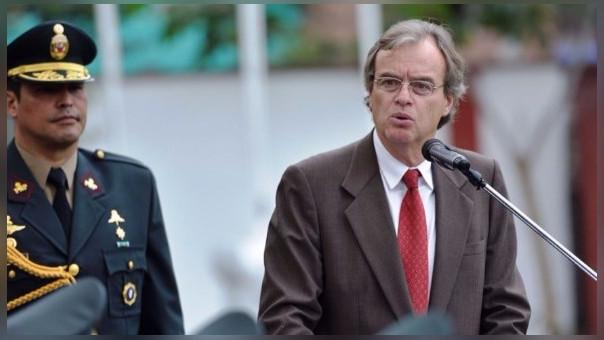 Ministro del Interior Carlos Basombrío