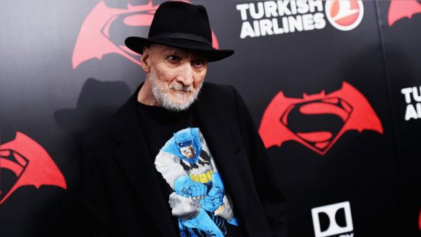 Frank Miller en la premiere de Batman V Superman