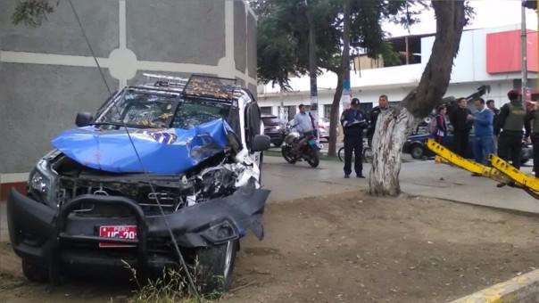 Trujillo: así quedó camioneta de serenazgo tras accidente