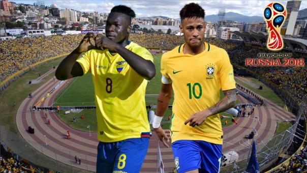 Eliminatorias Rusia 2018: Ecuador vs. Brasil