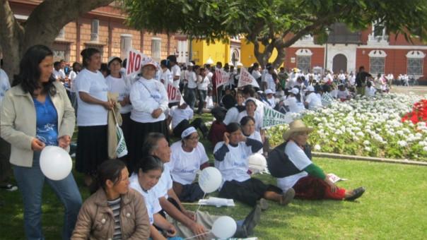 Jubilados piden aumentar sus pensiones en La Libertad