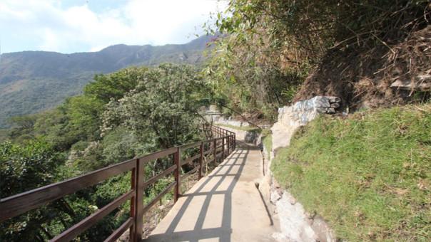 Nueva via de salida en Machu Picchu ( trayecto).