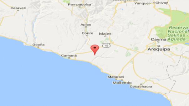 Sismo de 5 grados de magnitud sacudió Camaná