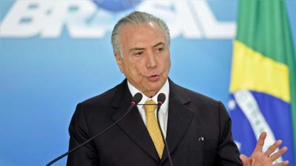 Michel Temer, presidente de la República Federativa del Brasil