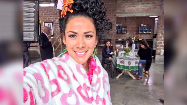 La actriz se encuentra concentrada en la filmación de Guerrero, la película de Paolo Guerrero.
