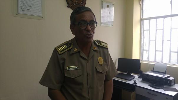 Jefe Divipol Chimbote, coronel Juan Martínez