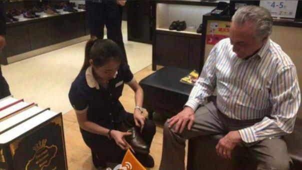 Esta es la foto de Michel Temer en China que ha indignado a los brasileños