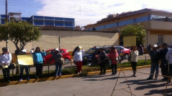 Protesta de asistenciales Hospital El Carmen