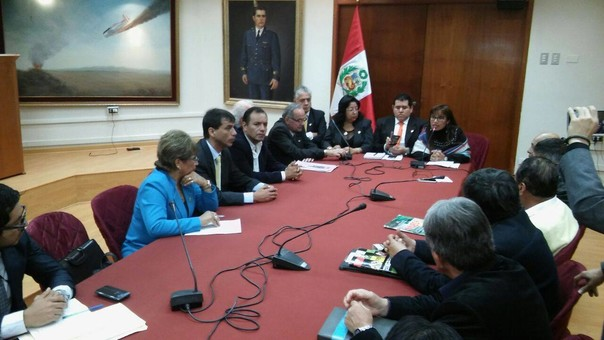 Reunión de autoridades en el Congreso de la República
