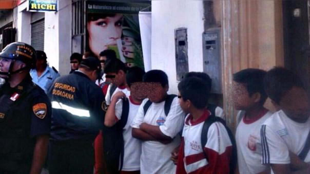 Escolares se evaden de sus aulas en Trujillo