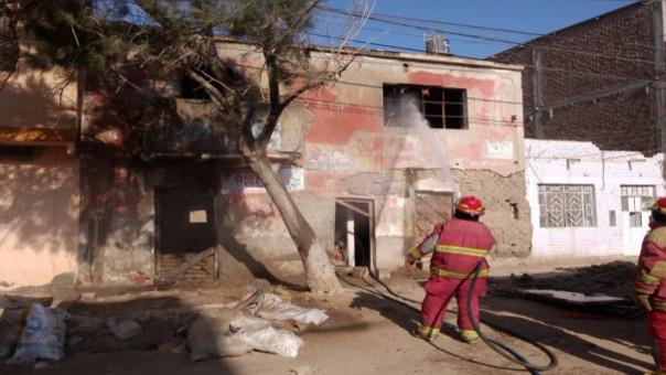 Incendio se registró en casa abandonada