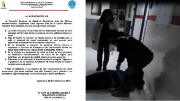 Precisos instantes que baleado se retuerce de dolor en el pasadizo del puesto de salud Simón Bolívar