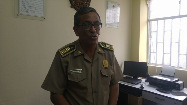 Jefe de la Divipol Chimbote, coronel Juan Martínez