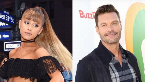 Ariana Grande y Ryan Seacrest