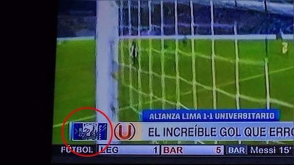 ESPN confundió escudo de Alianza Lima en clásico con Universitario