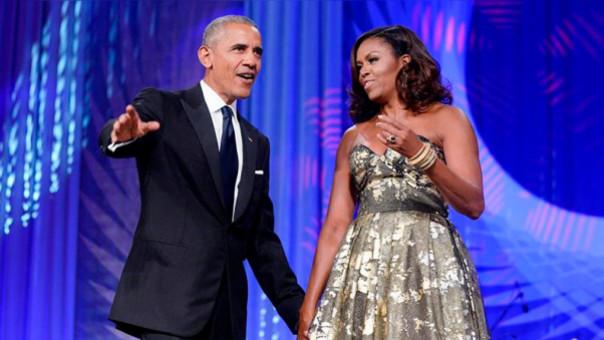 Barack Obama y Michelle Obama en la cena del Premio Phoenix de la Fundación del Grupo Congresista de Legisladores Afroamericanos.