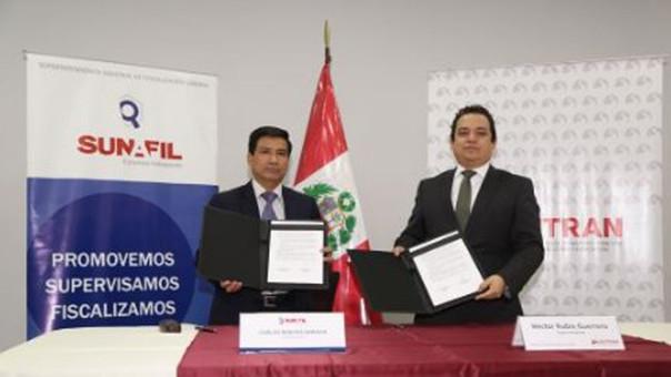 Sutran y Sunafil firmaron un convenio de cooperación y fiscalización.