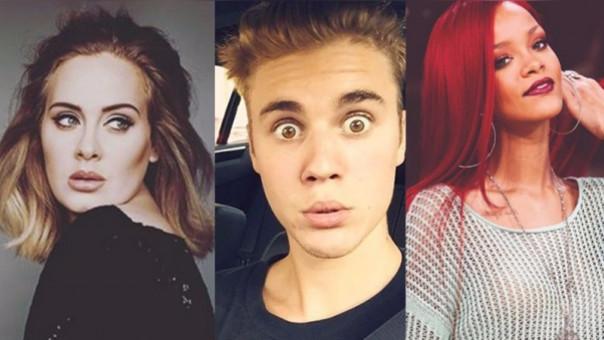 Adele, Justin Bieber y Rihanna son los favoritos a ganar en los MTV EMA 2016.