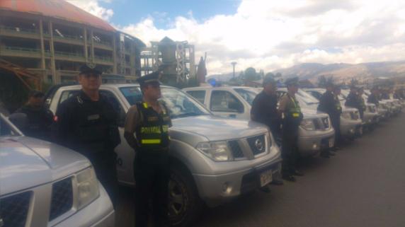 Patrullaje integrado en Cajamarca