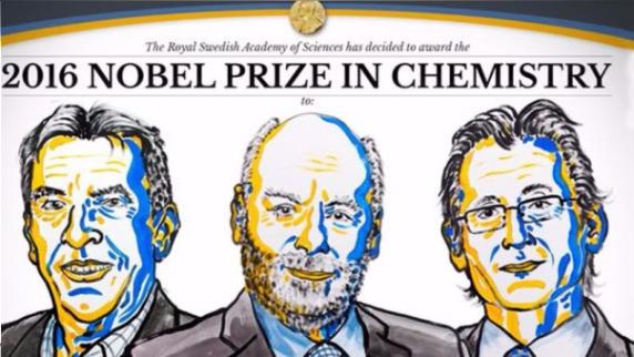 Jean Pierre Savage, J.Frasser Stoddart y Bernard Feringa, según el anuncio de la Academia Sueca.
