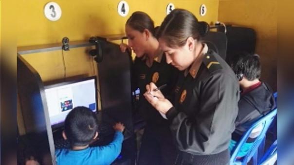 Comisaría de la Familia realizó operativos en cabinas de internet