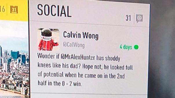 Calvin Wong quedó inmortalizado en FIFA 17, aunque EA ya prometió sacarlo pronto del simulador.