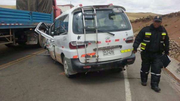 Accidente minivan